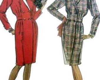 Women's Long Sleeve Dress Sewing Pattern UNCUT Simplicity 8733 Miss Size 10-14