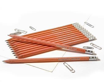 High Quality Personalised Pencils -Printed with Name - NATURAL WOOD (plus other colours)