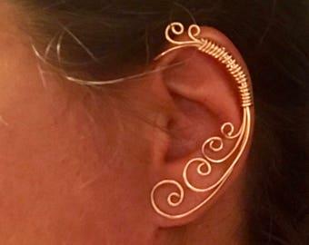 Bound to be Swirls, Vine earring, Jewelry, Ear Cuff, Vine Jewelry, ear jewelry, ear climber, ear wrap, ear jacket, non pierced