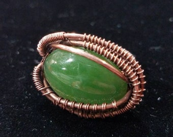 Size 9 bright green ring