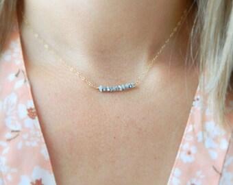 Diamond Pendant Necklace, Diamond Necklace, Gold Diamond Necklace, Black Diamond Necklace, Diamond Jewelry, Minimal Necklace