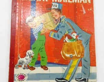 Vintage Merry Mailman Rand McNally Elf Book Childrens Book 1953