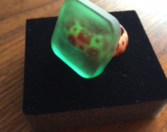18 mm Ring Epoxy (resin), ink and wood