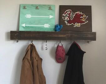 Floating Coat Rack and Shelf