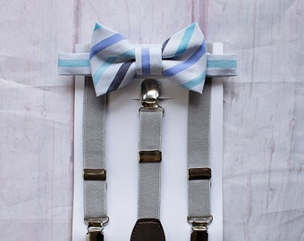 Boys Suspenders and Bow Tie, Ring Bearer Outfit, Boys First Birthday Outfit, Boys Cake Smash Outfit, Boys Clothes, Toddler Bow Tie, Boy Gift