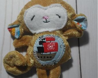 Pirate Monkey Plush