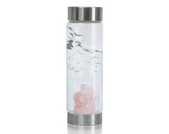 VitaJuwel - Cupid's Kiss Gemstone Glass Water Bottle By Vita Juwel