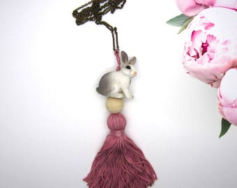 """Necklace """"rosehip"""" - Collection """"animals of the Princess"""""""