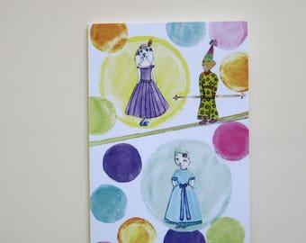 Children's card ' Circus Dreams ' folding card