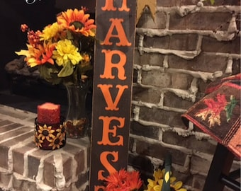 Harvest sign. Fall decor. Fall decorations. Fall signs Thanksgiving decorations Thanksgiving decor Autumn decor Signs for fall. Autumn decor