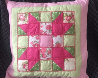 Sisters quilted cushion cover 16x16