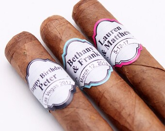 16 pcs Elegant Stripes  Personalized Cigar Band Stickers - Cigar Stickers (PPD-JM58632)