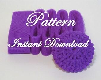 Scrubbie Pattern For Crocheted Nylon Netting Dish Scrubbies