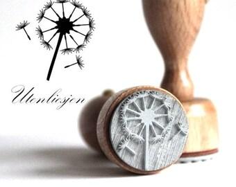 Stamp dandelion, rubber stamp 40 mm