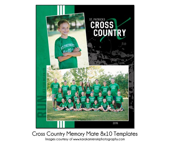 CROSS COUNTRY MM2 8x10 Memory Mate Sports Photo Template