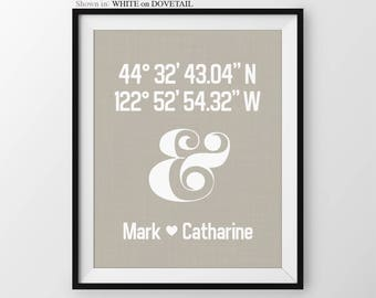 Personalized Wedding Anniversary Gift Paper Anniversary Housewarming Gift for Couple Ampersand Bridal Shower Gift First Home Gift 1st