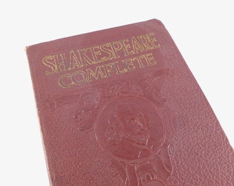 The Complete Works of William Shakespeare 1930 Softcover Edition