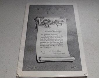 Bell Telephone News December 1924 Magazine