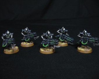5 Necron Immortals with Gauss Blasters Hand Painted! Warhammer 40k Games Workshop COMMISSION SERVICE