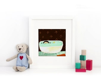 The Bathroom - Deluxe Edition Print - Whimsical Art