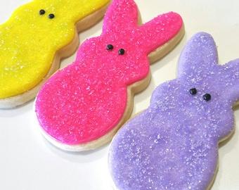Peeps,Easter cookies, peep cookies,Easter Bunny, easter bunny cookie,Easter egg, bunny, Easter candy, Easter party,Easter gift