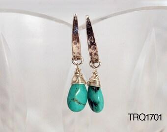Turquoise earrings / Turquoise bead earrings  / Turquoise statement earrings / Chunky Turquoise earrings / December birthstone