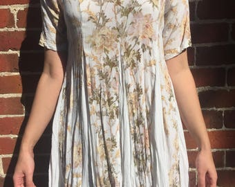 White/floral babydoll dress