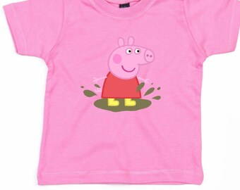 Peppa Pig pink t shirt top baby girl
