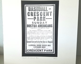Rhode Island baseball silver gelatin  print Crescent Park