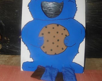 1 cookie   monster  with      4    bean  bags