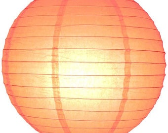 9x Orange Paper Lanterns and LED Bulbs for Wedding Engagement 21st 1st Birthday Party Baby Shower Graduation Decorations