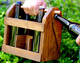 Beer Tote - Best Man Gift - Groomsmen Gifts - Gift for Groom - Father of the Bride Gift - Beer Carton