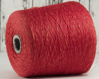 Cotton-linen yarn on cone, Italy, cotton with linen (Italy) on cone, per 100g: Li_Co_25
