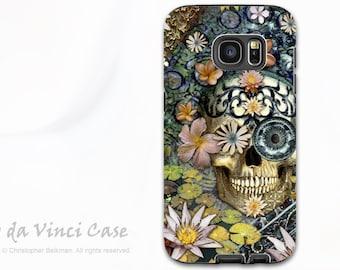 Botanical Skull Case for Samsung Galaxy S7 - Premium Dual Layer Galaxy S 7 Case with Skull Art - Bali Botaniskull - by Da Vinci Case