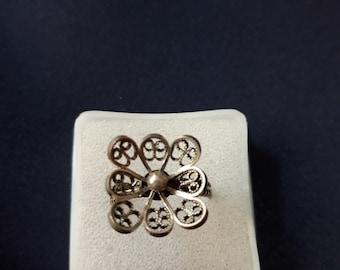 Handmade Macedonian Silver Filigree Ring
