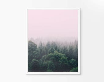 Forest Wall Art, Nature Print, Forest Photography, Forest Print, Nature Photography, Nature Landscape, Mist Forest, Fog Forest, Nature Decor