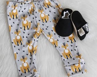 Fox Baby Legging//Baby Boy Pants, Toddler Leggings, Baby Leggings, Fox Leggings, Fox Baby Pants, Organic Baby Leggings, Baby pants, Fox Pant
