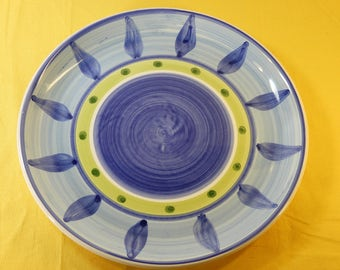Vintage Caleca Blue Moon Dinner Plate11.25\ Caleca ceramic Plate DinnerwareBlue Moon & Vintage German Pitcher Beautiful Decorative Pitcher Vase