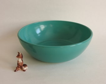 Hazel Atlas Aqua Serving Bowl