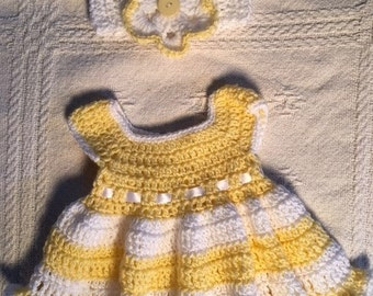 Lemon Drop Dress 0-3 Mth.