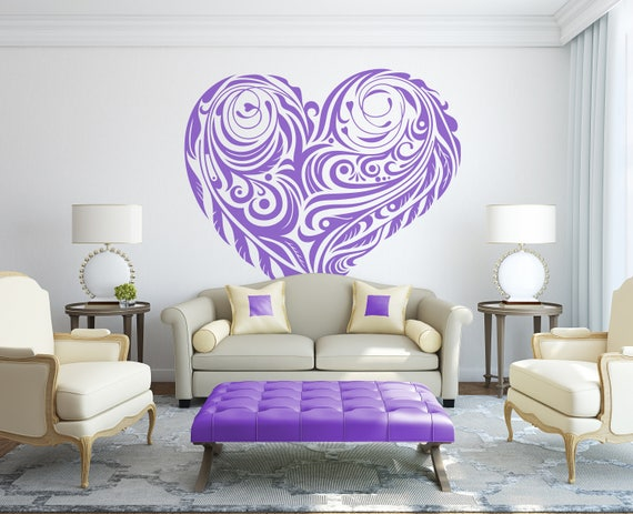 Lover's Hearts - Because we all have some other's hearts inside our own, Interior Vinyl Decal / Sticker collection for wall decor