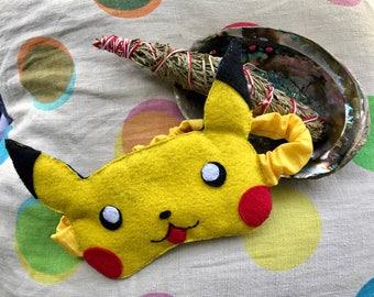 Pikachu sleep mask, pokemon eye mask,