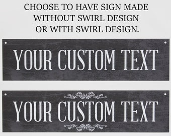 Custom Sign   Metal Sign   Custom Metal Signs   Black U0026 White    Personalized Decor