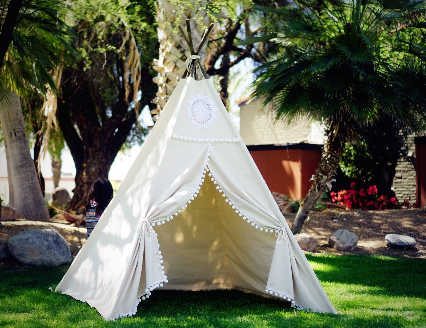?zoom & XL Vintage teepee beach teepee 8ft kids Teepee large tipi
