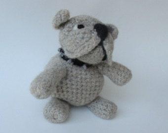Pattern PDF Crocheted  Bulldog Pattern ..Felted or Not