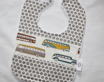 Organic Buses and Dots Chenille Bib