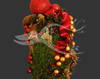 Christmas Arrangements with preserved plants