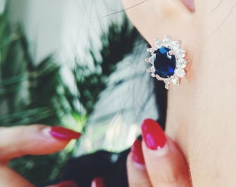 Royal blue earrings | Gift for mom in law | Anniversary gift | Mom gift | Gift for her | Tanzanite earrings | Mothers day gift for her | mom