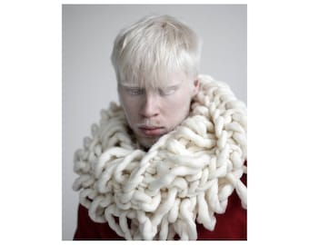 Knit Cowl, Oversized Cowl,  Cowl Scarf, Super chunky hand-knitted cowl