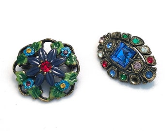VINTAGE - BROOCHES - Set of TWO (2)